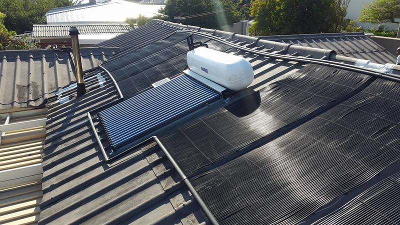 Solar Geyser with Flat Plate Collector and Solar Pool Panels - Contact us now for a quote