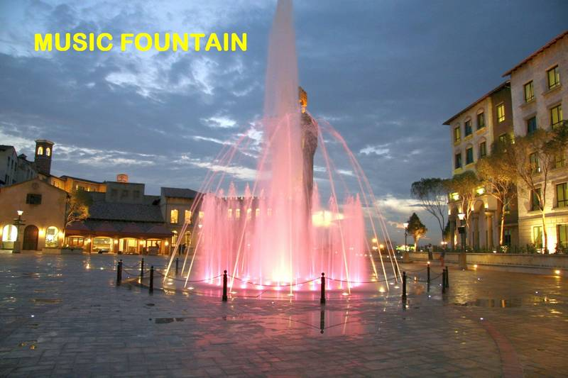 Music and Interactive fountain at Montecasino