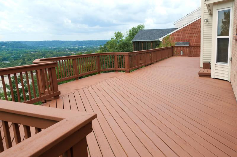 beautiful wooden decking