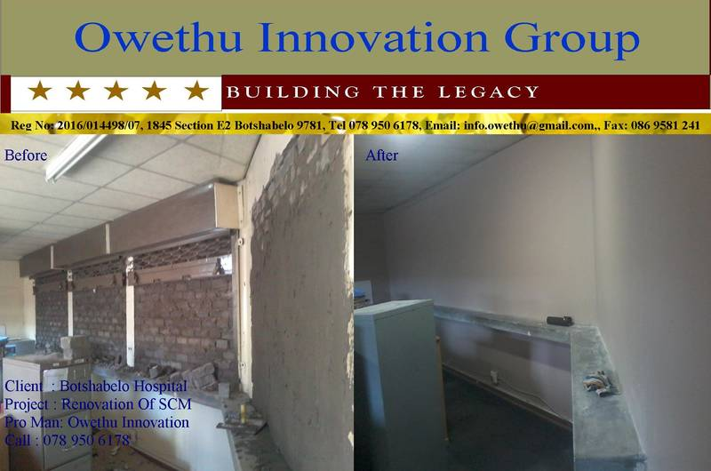 Building, plastering and painting work