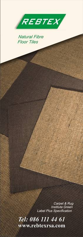 Floor Tiles made from Sisal Fibre and Rebtex Fibregard.