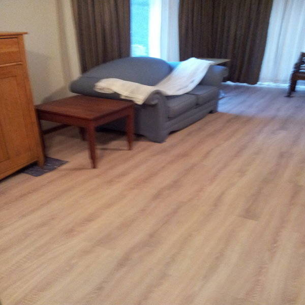 Laminated Wooden Flooring fitted in living room