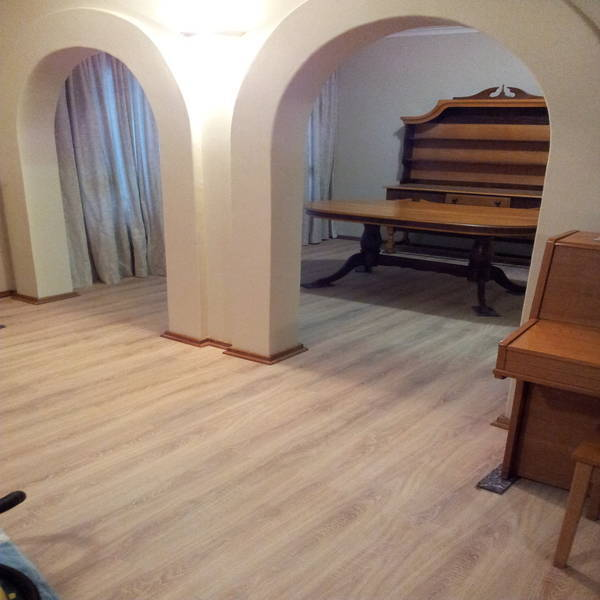 Laminated Wooden Flooring fittedin living room