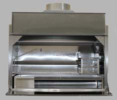 1200mm De Luxe stainless steel built-in braai