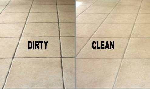 cleaned ceramic tiles