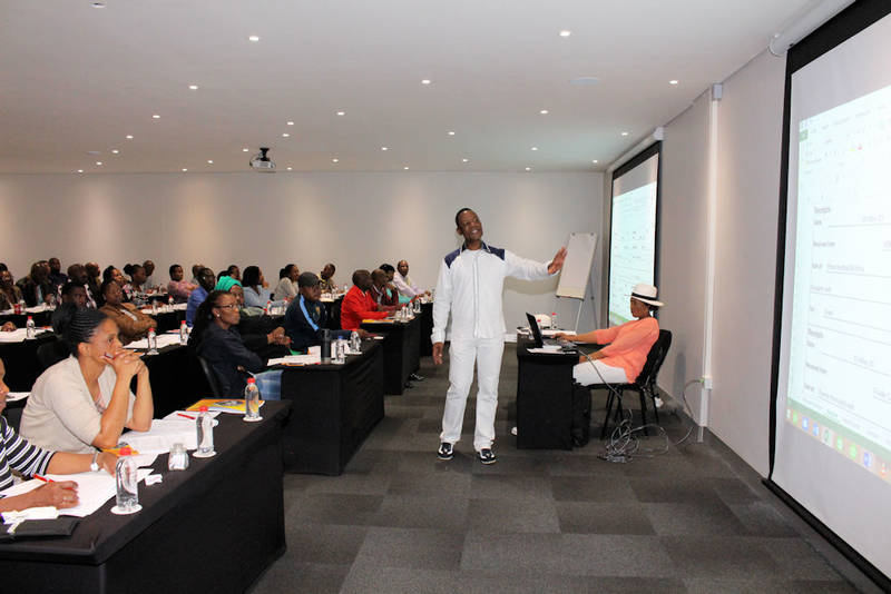 Mpho Mhangwana - CEO, lecturing at a workshop