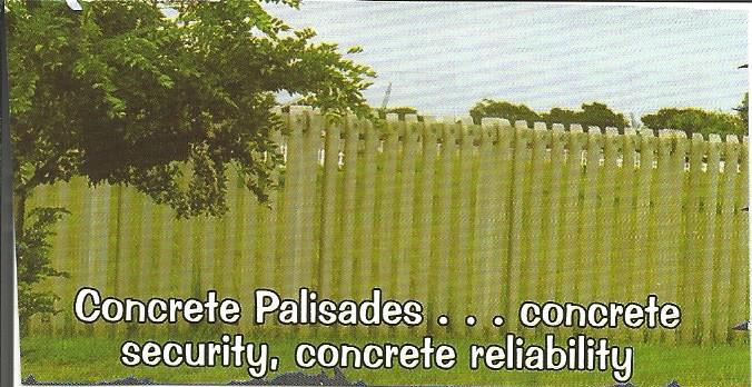 Concrete Palisade Walling