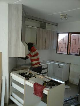 This are chichen cupboards as part of our work