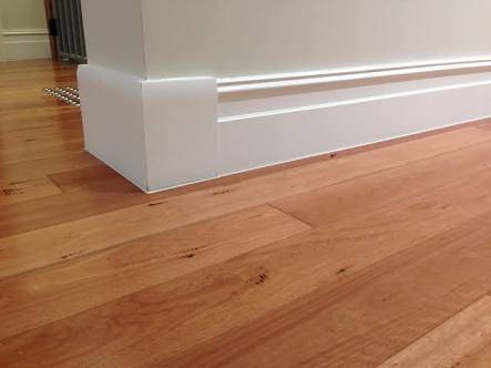 Engineered Oak flooring with Painted Supawood Skirting